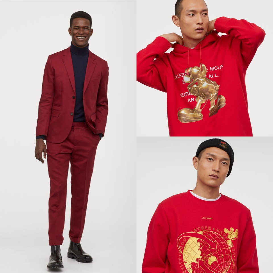 Red clothes for men Lunar New Year H&M - Rockland