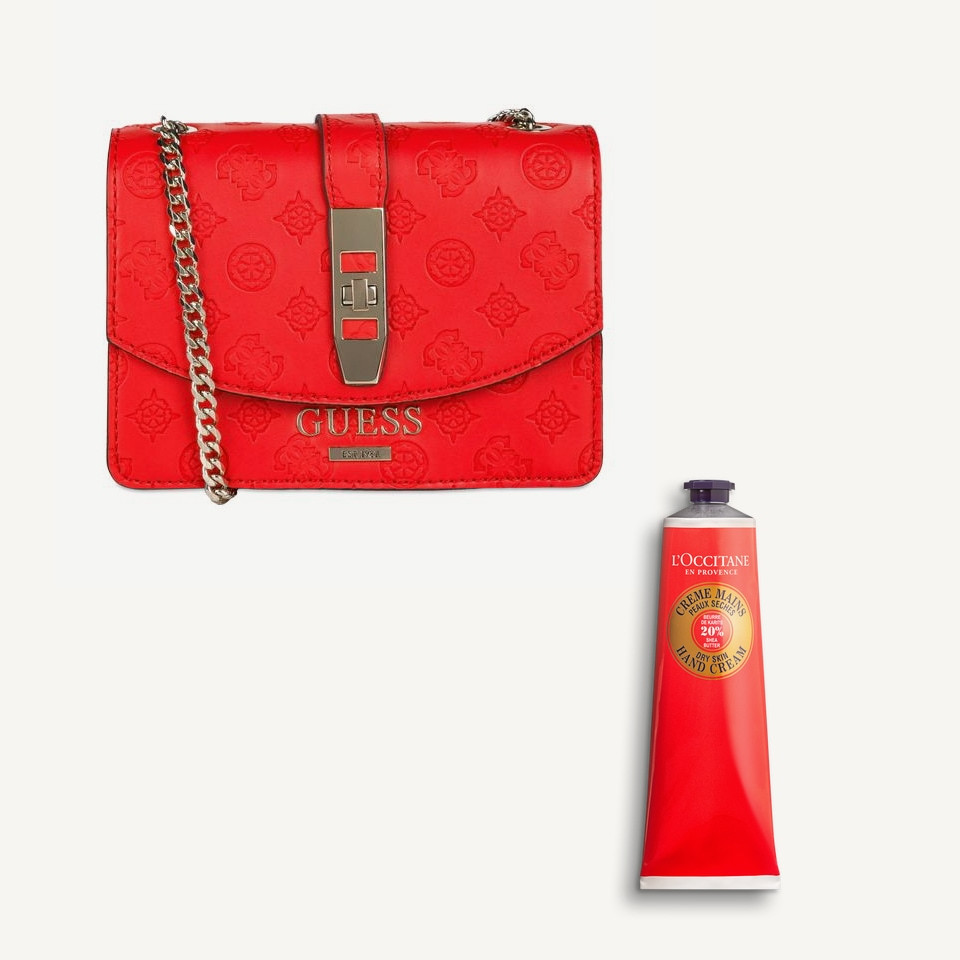 L'Occitane red hand cream Lunar New Year Guess purse - Rockland
