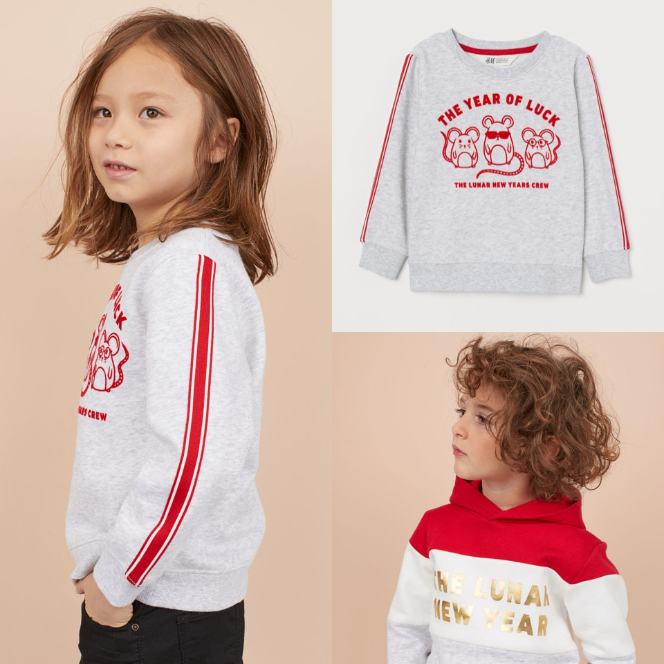 Red clothes for kids Lunar New Year H&M - Rockland