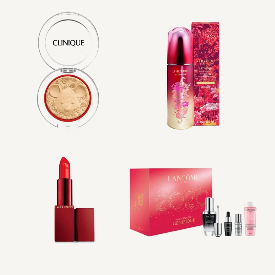 Cosmétiques rouges Nouvel An lunaire La Baie Clinique Shiseido Laura Mercier Lancôme - Rockland