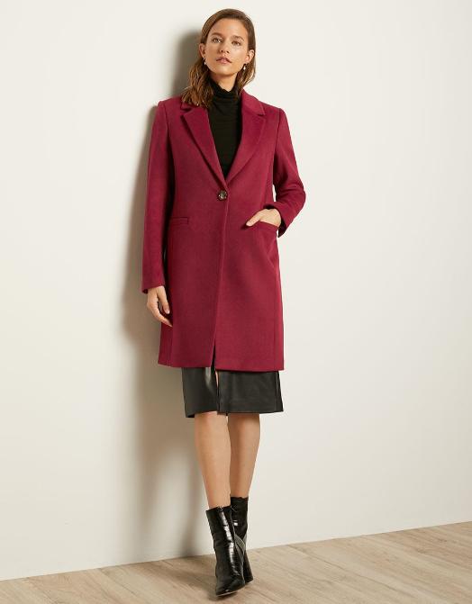 Manteau tendance rouge, RW&co