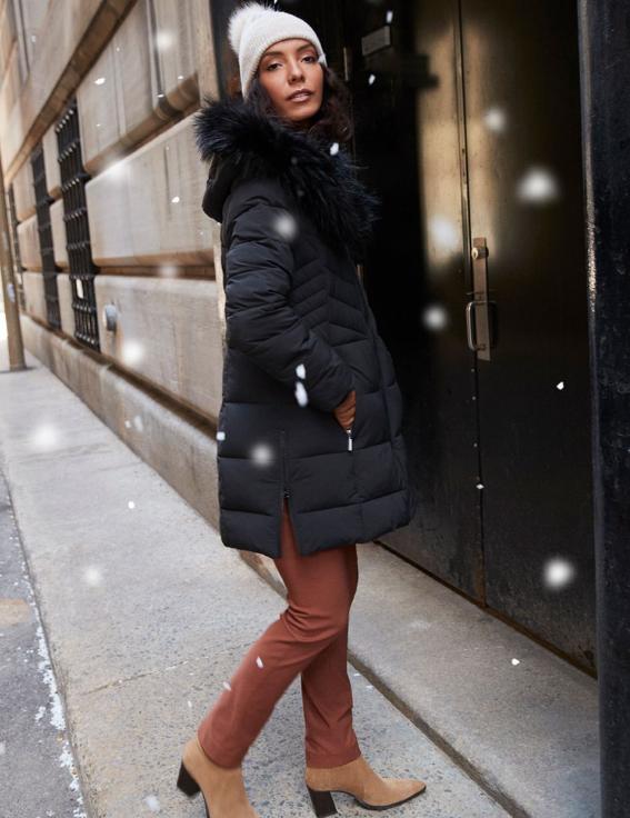 Manteau matelassé noir Reitmans