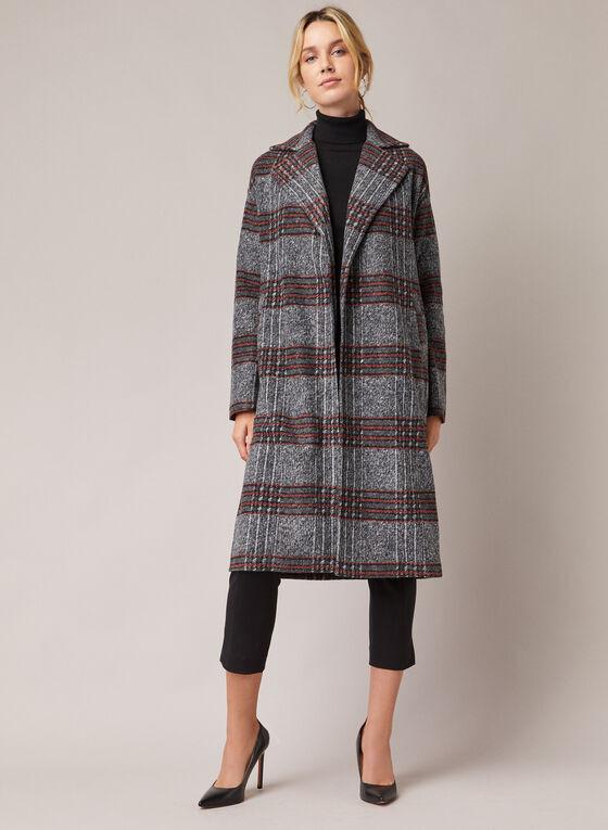 Long manteau à motif tartan, Mélanie Lyne